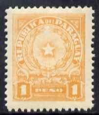 Paraguay 1942-43 Arms 1p orange unmounted mint SG 569