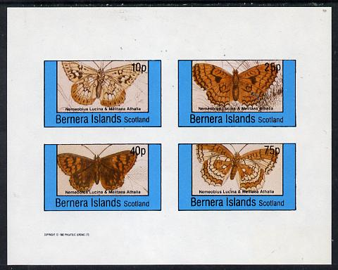 Bernera 1982 Butterflies (Nemeobius L & Melitaea A) imperf  set of 4 values (10p to 75p) unmounted mint