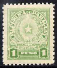 Paraguay 1942-43 Arms 1p emerald-green unmounted mint SG 568
