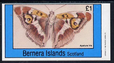 Bernera 1982 Butterflies (Apatura Iris) imperf souvenir sheet (�1 value) unmounted mint