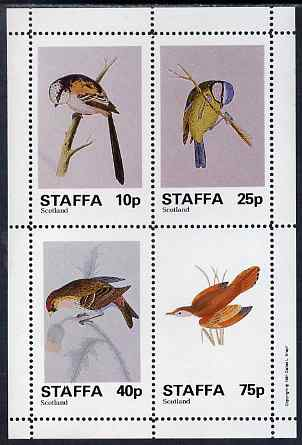 Staffa 1981 Birds #81 perf sheetlet containing set of 4 values unmounted mint