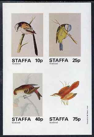 Staffa 1981 Birds #81 imperf sheetlet containing set of 4 values unmounted mint