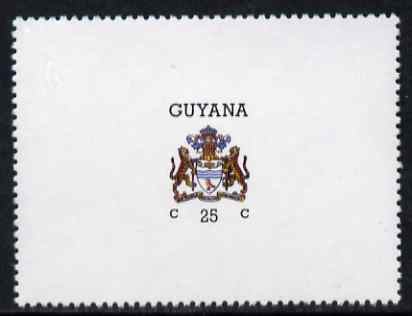 Guyana 1986 Arms of Guyana 25c horizontal format with watermark unmounted mint SG 1808b