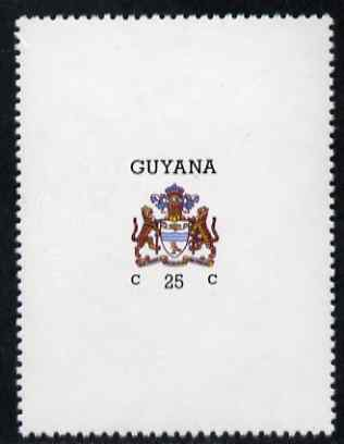 Guyana 1986 Arms of Guyana 25c vertical format with watermark unmounted mint SG 1807b