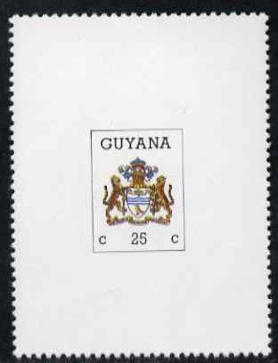 Guyana 1987 Arms of Guyana 25c vertical format within frame unmounted mint SG 2183a