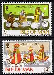 Isle of Man 1983 Christmas (Shepherds & Kings) set of 2 unmounted mint, SG 257-58