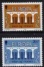 Isle of Man 1984 Europa (CEPT 25th Anniversary Logo) set of 2 unmounted mint, SG 265-66