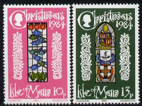 Isle of Man 1984 Christmas - Stained-glass Windows set of 2 unmounted mint, SG 272-73