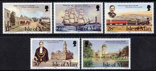 Isle of Man 1984 William Cain (civic leader, Victoria) commemoration set of 5 unmounted mint, SG 274-78