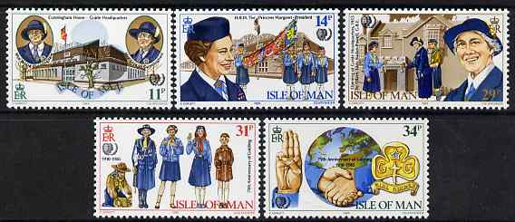 Isle of Man 1985 75th Anniversary of Girl Guide Movement set of 5 unmounted mint, SG 281-85