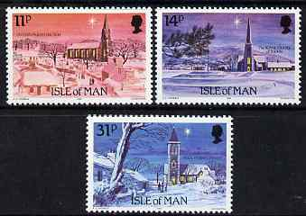 Isle of Man 1985 Christmas - Manx Churches set of 3 unmounted mint, SG 303-305