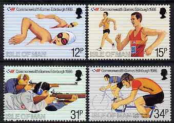 Isle of Man 1986 Commonwealth Games set of 4 unmounted mint, SG 306-09