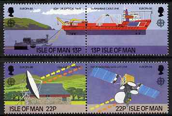 Isle of Man 1988 Europa - Transport & Communications set of 4 unmounted mint, SG 381-84