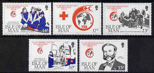 Isle of Man 1989 125th Anniversary of Red Cross & Centenary of Noble's Hospital set of 5 unmounted mint, SG 424-28