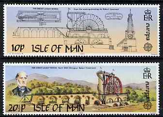 Isle of Man 1983 Europa - The Great Laxey Wheel set of 2 unmounted mint, SG 249-50