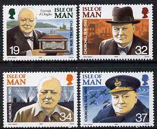 Isle of Man 1990 Churchill 25th Death Anniversary set of 4 unmounted mint, SG 455-58