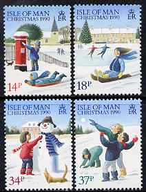 Isle of Man 1990 Christmas set of 4 unmounted mint, SG 459-62
