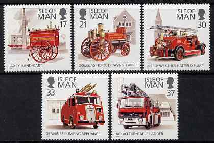 Isle of Man 1991 Fire engines set of 5 unmounted mint, SG 485-89