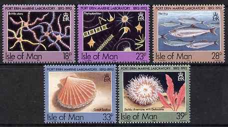 Isle of Man 1992 Centenary of Port Erin Marine Laboratory set of 5 unmounted mint, SG 513-17