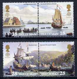 Isle of Man 1992 Europa - 500th Anniversary Columbus set of 4 (2 se-tenant pairs) unmounted mint, SG 518-21