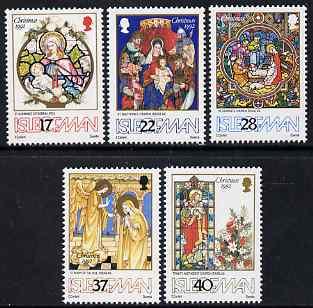 Isle of Man 1992 Christmas set of 5 unmounted mint, SG 532-36