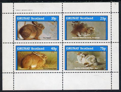Grunay 1982 Animals (Rabbits) perf  set of 4 values (10p to 75p) unmounted mint