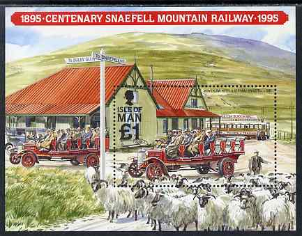 Isle of Man 1995 Centenary of Snaefell Mountain Railway m/sheet unmounted mint, SG MS638