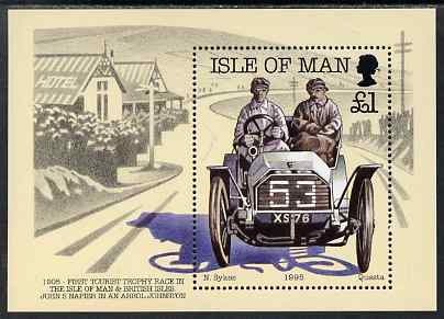Isle of Man 1995 90th Anniversary of Motor Racing on Isle of Man m/sheet unmounted mint, SG MS655