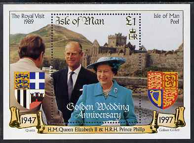Isle of Man 1997 Golden Wedding of Queen Elizabeth & Prince Philip m/sheet unmounted mint, SG MS772