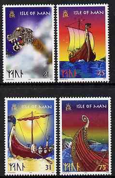 Isle of Man 1998 Viking Longships set of 4 unmounted mint, SG 793-96