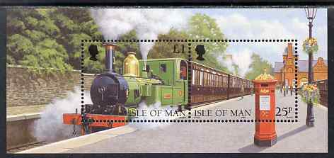 Isle of Man 1998 125th Anniversary of Isle of Man Steam Railway m/sheet unmounted mint, SG MS807