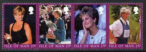 Isle of Man 1998 Diana, Princess of Wales commemoration set of 4 unmounted mint, SG 813-16