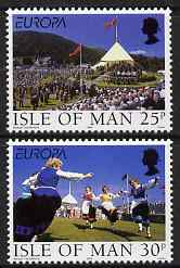 Isle of Man 1998 Europa - Festivals set of 2 unmounted mint, SG 817-18, stamps on europa, stamps on dancing