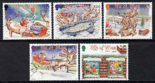 Isle of Man 1998 Christmas - 'A Very Special Delivery' set of 5 unmounted mint, SG 819-23