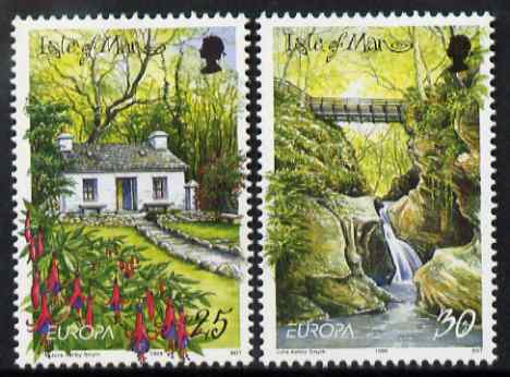 Isle of Man 1999 Europa - Parks and Gardens set of 2 unmounted mint, SG 830-31