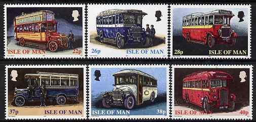 Isle of Man 1999 Manx Buses set of 6 unmounted mint, SG 845-50