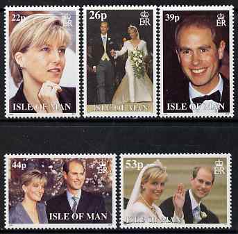 Isle of Man 1999 Royal Wedding (Prince Edward and Miss Sophie Rhys-Jones) set of 5 unmounted mint, SG 851-55