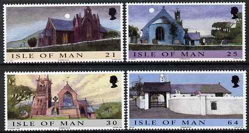 Isle of Man 1999 Christmas - Churches set of 4 unmounted mint, SG 857-60