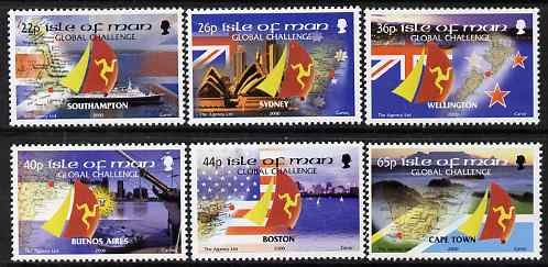 Isle of Man 2000 BT Global Challenge Round the World Yacht Race set of 6 unmounted mint, SG 901-06