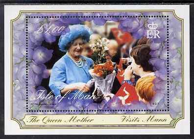 Isle of Man 2000 Queen Elizabeth, the Queen Mother's Century m/sheet unmounted mint,  SG MS881