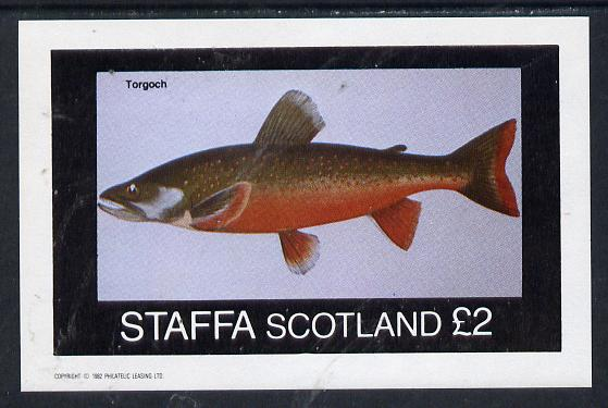 Staffa 1982 Fish #06 (Torgoch) imperf deluxe sheet (�2 value) unmounted mint