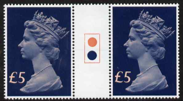 Great Britain 1977-87 Machin - Large Format \A35 traffic light gutter pair unmounted mint SG 1028