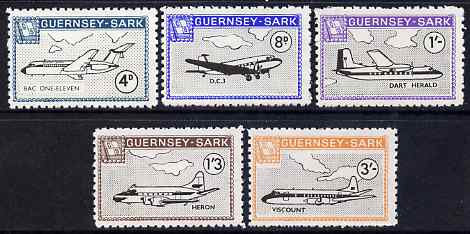 Guernsey - Sark 1968 Aircraft definitive perf set of 5 unmounted mint, Rosen CS 116-20