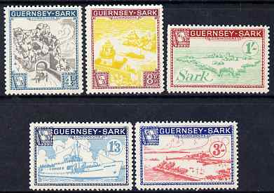 Guernsey - Sark 1963 definitive set of 5 unmounted mint Rosen CS CS 33-37