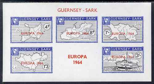 Guernsey - Sark 1964 Europa overprint on Maps imperf m/sheet unmounted mint, Rosen CS 61MS