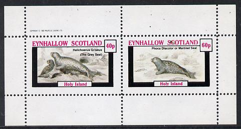 Eynhallow 1982 Animals #09 (Grey Seal & Marbled Seal) perf  set of 2 values (40p & 60p) unmounted mint
