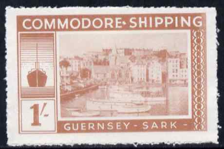 Guernsey - Sark 1961 definitive - Commodore Shipping 1s pale brown unmounted mint Rosen CS 19