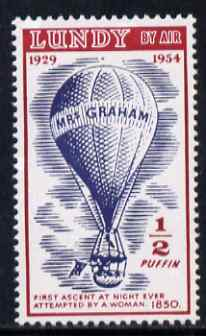 Lundy 1954 definitive Airmail 1/2p Mrs Graham