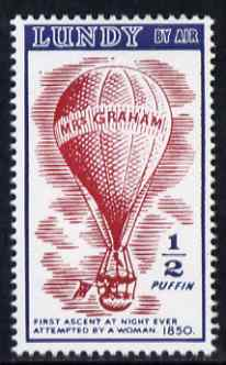 Lundy 1954 definitive Airmail without dates 1/2p Mrs Graham