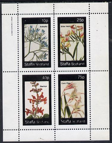Staffa 1982 Flowers #04 (Anthyllis, Corn Flag etc) perf  set of 4 values (10p to 75p) unmounted mint